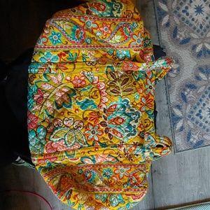 Vera Bradley yellow print duffel bag